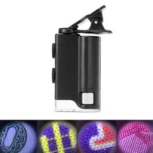 Mini Portable 60X-100X 200X-240X Handheld LED Lamp Light  Zoom Magnifier Microscope Magnifying Glass Micro Lens For Phone 185 biological microscope achromatic objectives 4x 10x 40x 60x 100x magnification objective lens 160 copper