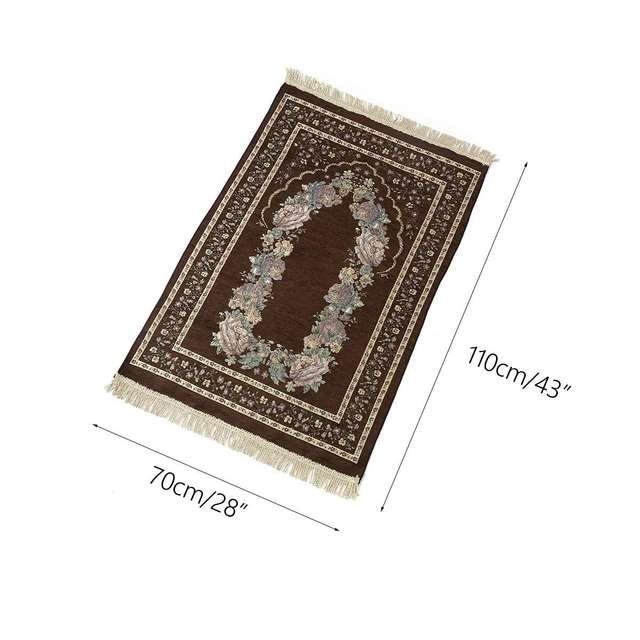 100*70cm Muslim Prayer Mat Prayer Rug Portable Braided Mats Chenille Cotton Yarn In Pouch Travel Home New Style Mat Blanket