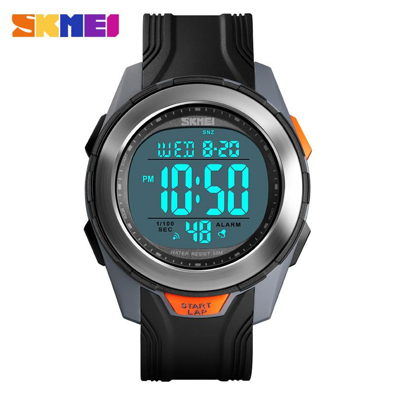 Fashion Watch Men Multifunction Digital Watch <font><b>SKMEI</b></font> 50M Waterproof Alarm Clock Stainless Steel Case Watches Relogio Digital <font><b>1503</b></font> image