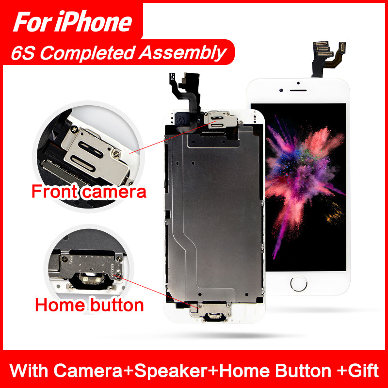 Grade AAA+++ Display For iPhone 6 5 6S Plus LCD Full Assembly With Camera Home Button Touch Screen Display Replacement Completed image