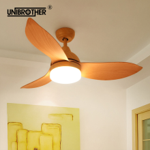 42 Inch Ceiling Fans 3 Blades wooden three colors remote control fan creative wood 24w 220v for living room