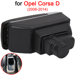 Image 3 - For Opel Corsa Armrest Box Opel Corsa D Universal Car Central Armrest Storage Box cup holder ashtray modification accessories