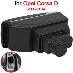 Image 3 - Para opel corsa braço caixa, opel corsa d universal carro central de armazenamento de braço suporte de copo cinzeiro acessórios de modificação