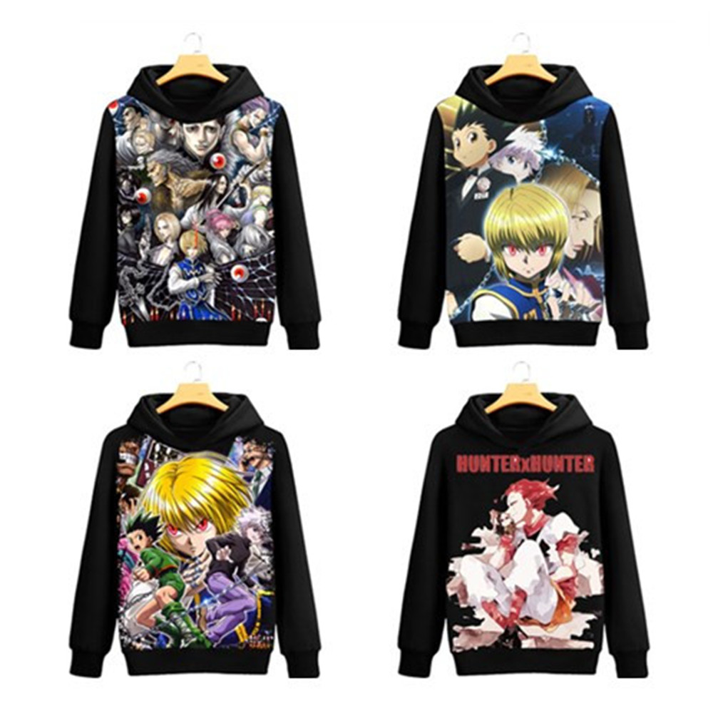 HUNTERXHUNTER GON·FREECSS Killua Zoldyck Boy Cosplay Costumes Sweatshirt Character Atmosphere Props Play Apparel Costume