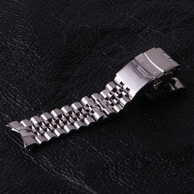 Correia heimdallr 22mm largura sólida 316l aço