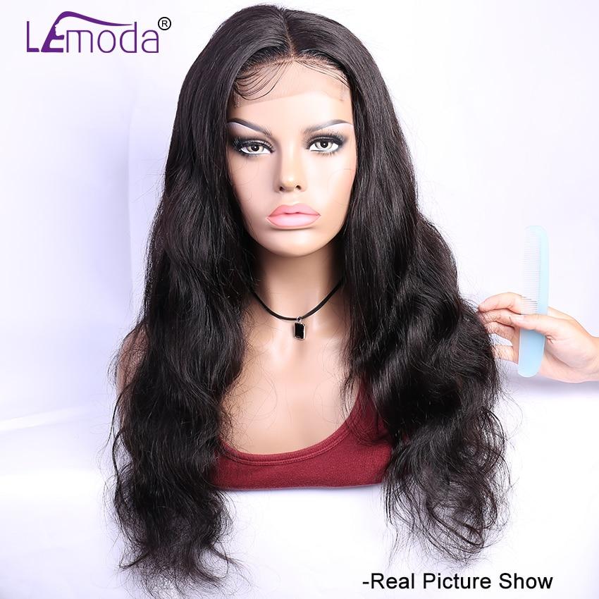 H771cfcf971864fe2b31b9b8a0e2276a6c 26 Inch Body Wave Wig Malaysian 4x4 Closure Wig Preplucked Natural Human Hair High Ratio Lemoda 150% Remy Hair Lace Closure Wig