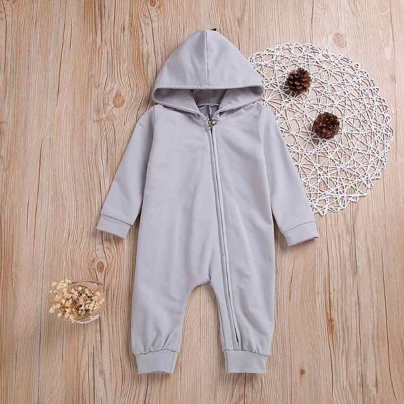 Spring Baby Rompers Hooded Solid Color Cotton Toddler Baby Rompers 3D Dinosaur shape Costume Playsuit Long Sleeve clothes