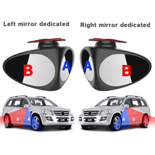 2 in 1 Car Rearview Mirror Blind 360 Rotatie Verstelbare ABS+Glass Anti-collision View Front Wheel