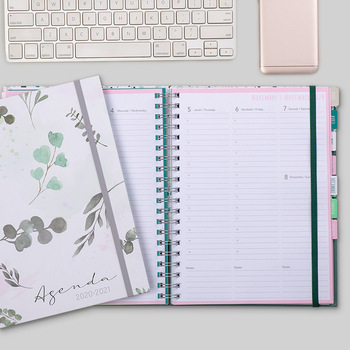 цена A4 Agenda 2020 2021 Notebooks and Journals Kawaii Sprial Daily Notepad Diary Weekly Planner for School Office Supplies Skechbook онлайн в 2017 году