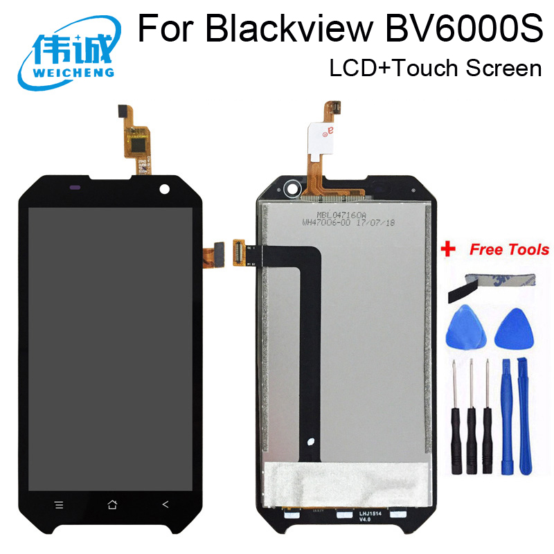WEICHENG 4.7 inch <font><b>LCD</b></font> For Blackview <font><b>BV6000</b></font> <font><b>LCD</b></font> Display+Touch Screen 100% Tested Screen Digitizer Assembly Replacement BV6000S image