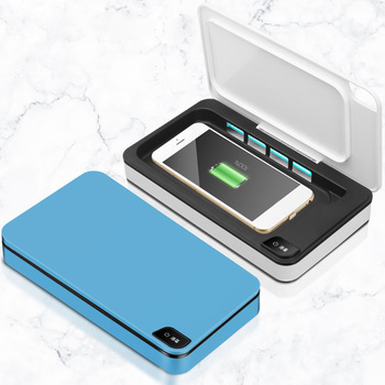Caja portátil de limpiador de joyas para teléfono con luz UV, caja de limpieza para lámpara UV para el hogar, caja limpiadora esterilizadora UV de tipo Normal