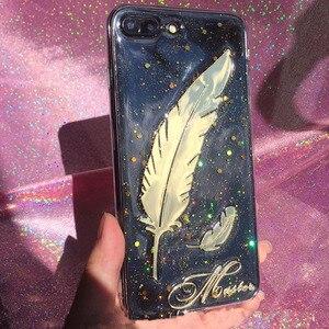 Image 4 - Уникальный 3D Блестящий чехол для телефона с именем на заказ для iPhone 11 Pro 6 7 8 Plus X Max XR Samsung Galaxy S20 S8 S9 S10 Note 20 10 9 Ultra