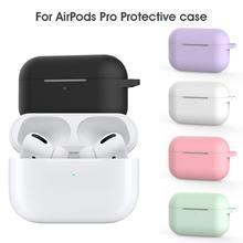 Miękkie silikonowe futerały do Apple Airpods Pro Bluetooth bezprzewodowe słuchawki ochronne do Apple Air Pods etui z funkcją ładowania torby tanie tanio centechia CN (pochodzenie) Słuchawki Przypadki 6 2 *4 8 *2 4 cm For Airpods Pro (2019 Release) Anti-drop Anti-dust Anti-sweat Shockproof