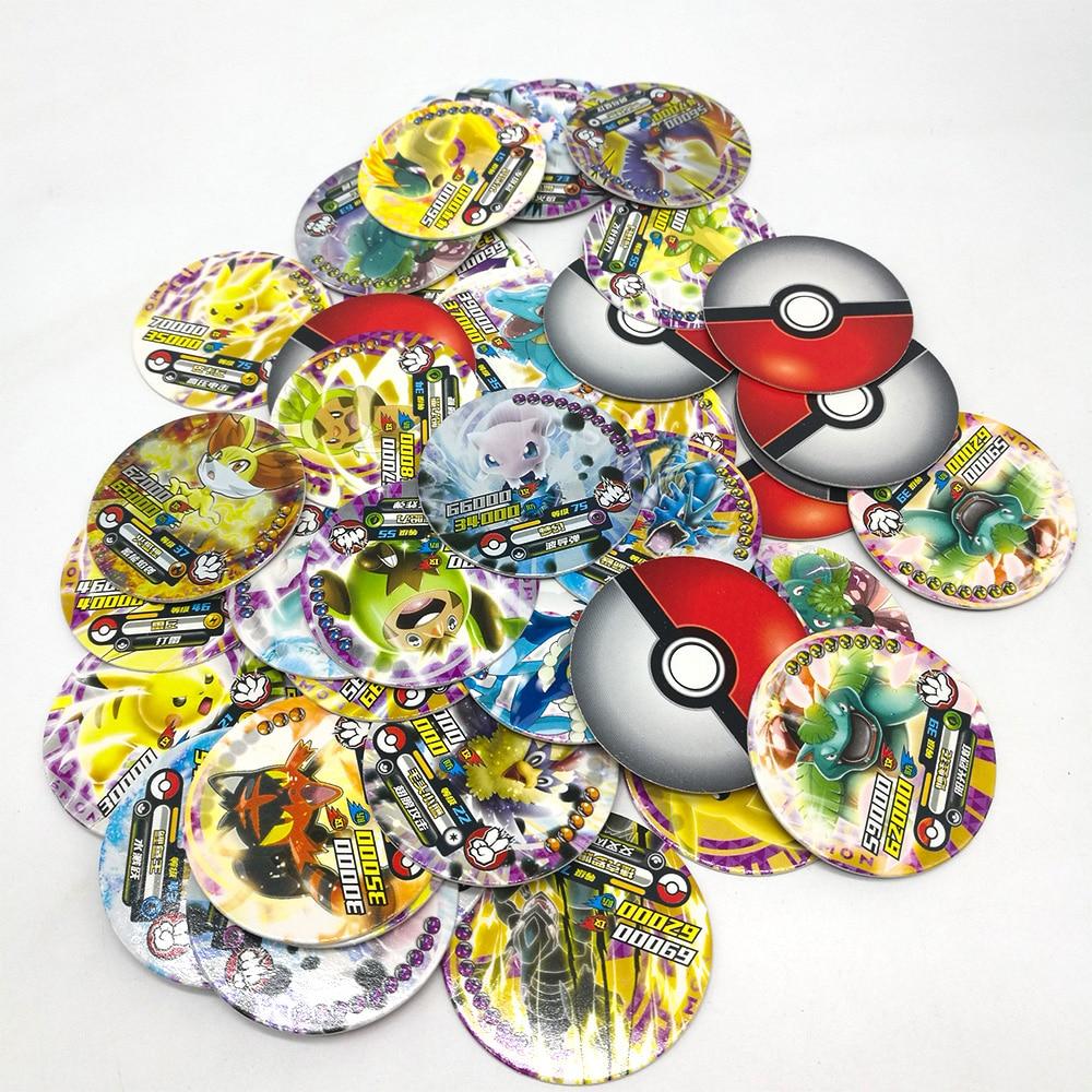 TAKARA Toys 288pcs Shining Pokemon Round Cards Collections Pikachu Flash Card 12pcs/box 24box/set Board Game For Kids Gift