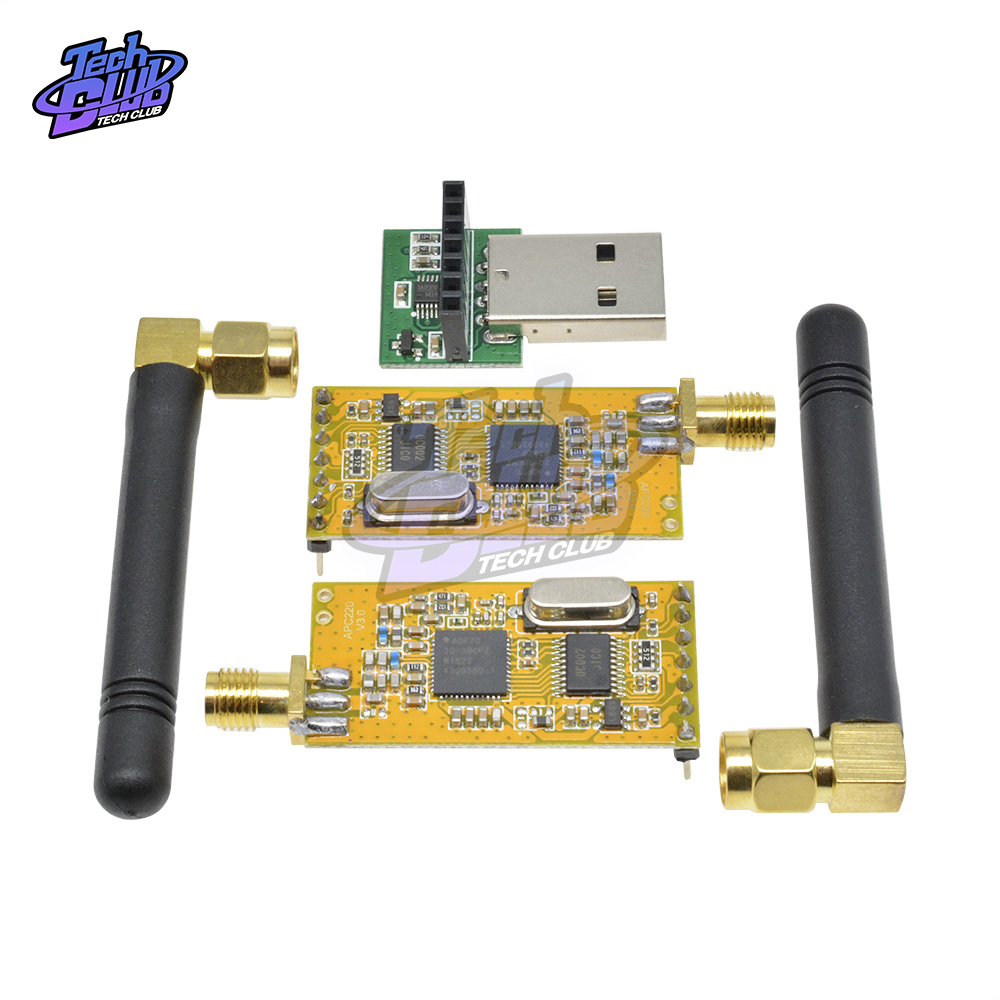 APC220 Wireless RF serial Data Modules With <font><b>Antennas</b></font> 3.3V-<font><b>5V</b></font> <font><b>USB</b></font> Converter Module Adapter Kit For Arduino image