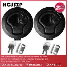 """2 stuks 2 """"Plastic Locking Lift Handvat Flush Pull Vergrendelingen Slam Marine Boot Ronde Dek Slot met Sleutel Jacht onderdelen Accessoires"""