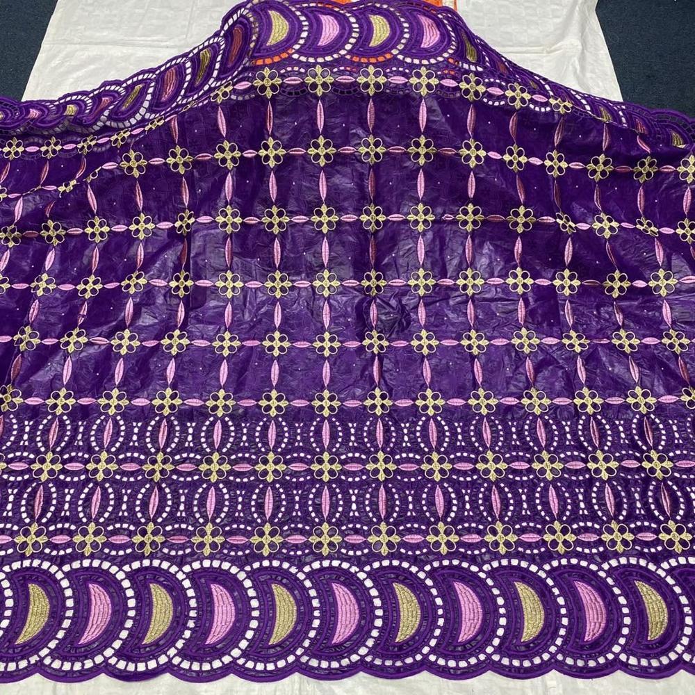 Tissu indien bazin riche tissu bazin brode bassin riche robe de soirée nigérian dentelle tissus pour mariage 5yard