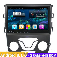 Android 8.1 Car Multimedia Auto Radio Player For Ford Mondeo 2013 Stereo GPS Navigation Magnitol Two Din Video Octa Core NO DVD