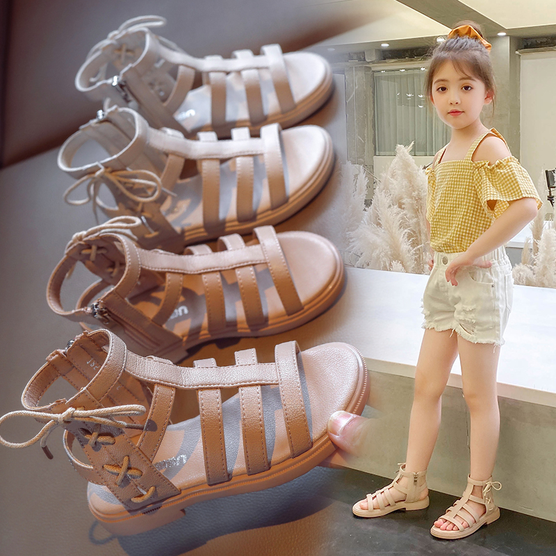 AAdct 2020 Girls Sandals Summer New Fashion Little Princess Kids Sandals For Girls Soft Sole Children Rome Shoes