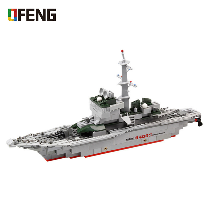 Blocksteine Kriegsschiff Militär Spielzeug Kinder Modell Geschenk 8in1 Mit BOX