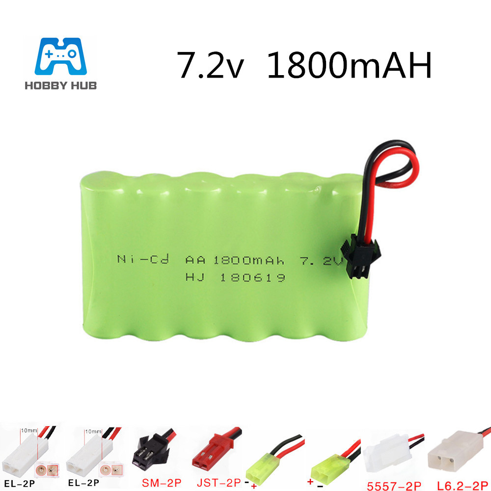 7.2v 1800mah NI-CD Rechargeable AA Battery for RC car ship robot truck lighting facilities toys battery 7.2 v AA 1800 mah nimh