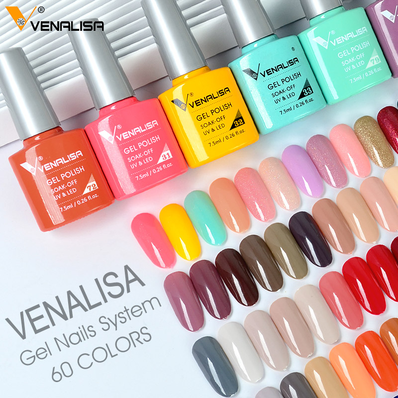 Venalisa Fashion Bling 7.5ml Soak Off UV Gel Nail Gel Polish Cosmetics Nail Art Manicure Nails Gel Polish VIP3 Nail Varnish 3