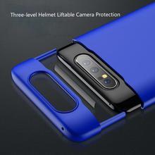 Do Samsung A80 PC twardy futerał luksusowy jednolity kolor do Samsung Galaxy A80 skrzynki pokrywa anty upadek All inclusive ochrony Funda