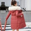 Plus Größe 4XL 5XL Dicken Großen Pelz Frauen Lange Unten Parkas Schlanke Winter Jacke Frauen Mit Kapuze Mantel Neue Baumwolle Padded jacken Weibliche