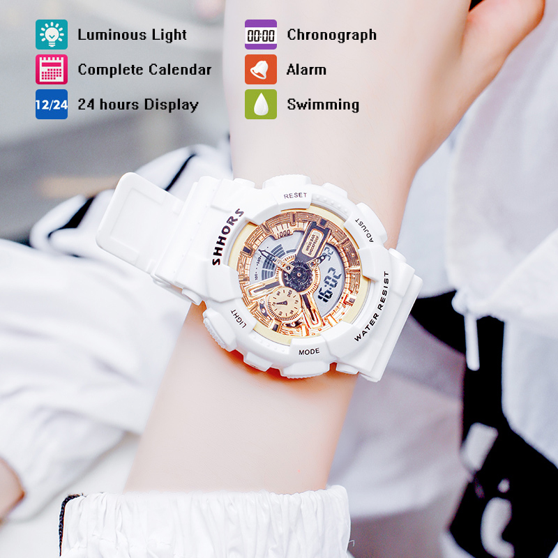 New Fashion Men Women Sports Watch Students Wrist Digital Clock Electronic Couple Watches Waterproof Multi-function Droshipping