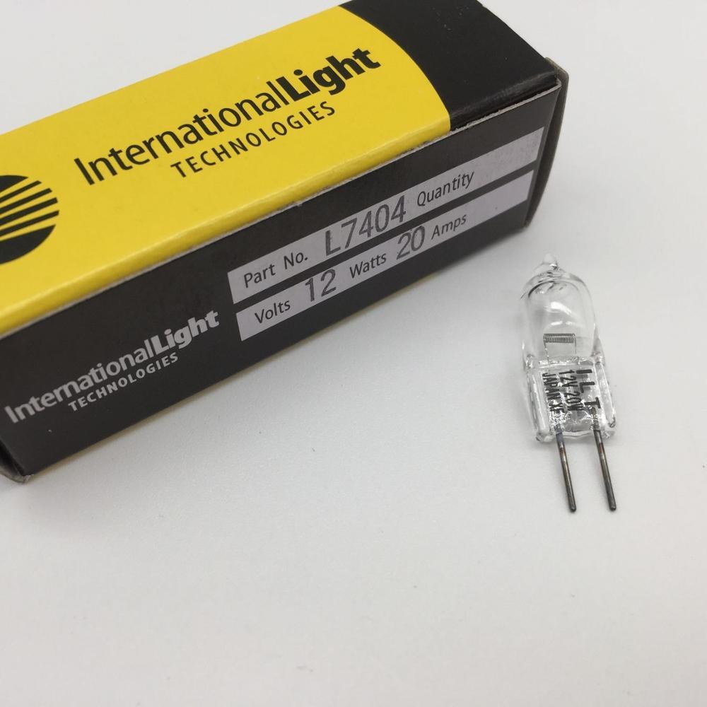 ILT L7404 12V20W G4 Japan tungsten halogen lamp,Vital Micro Microlab chemistry analyzer,12V 20W 2000 hours spare bulb,Gilway
