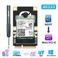 Dual Band 2974 Мбит/с Беспроводной адаптер Wi-Fi 6E Mini PCI-E для Intel AX210 сетевая карта Wi-Fi Bluetooth 5,2 802.11ax 160 МГц 2,4G/5G