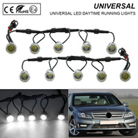 10pcs/lot 21MM Car LED Eagle Eye Light Car Flexible LED Daytime Running Lights 12V For Universal
