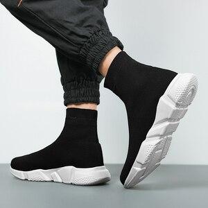 Image 5 - 새로운 메쉬 양말 신발 남성 스니커즈 통기성 캐주얼 남성 신발 커플 로퍼 신발 남자 편안한 Zapatillas Hombre 35 47