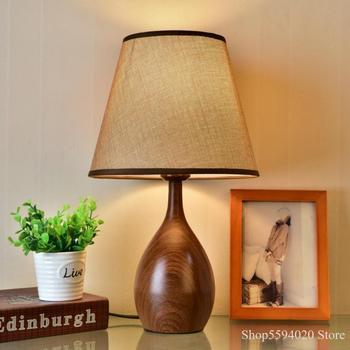 Nordic Wood Work Table Lamp Home Living Room Bedroom Decorated Desk Lamp Study Student Desk Lights Luminaria De Mesa Book Light