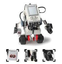 Motor EV3 Compatible con EV6 31313 45544, Robot de educación científica, bloques de construcción, programación creativa, programa de aplicación inteligente