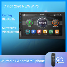 "2 DIN Mobil Radio 7 ""HD Sentuh Layar Pemain Mirrorlink Android 9 iPhone MP5/SD/FM/ MP4/USB/AUX/Bluetooth Mobil Auto Audio untuk Kamera(China)"