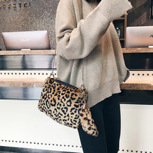 Stylish handbags women bags Leopard Print Small Square Package Chain Single Shoulder Crossbody Bag Purses and Handbags(China)