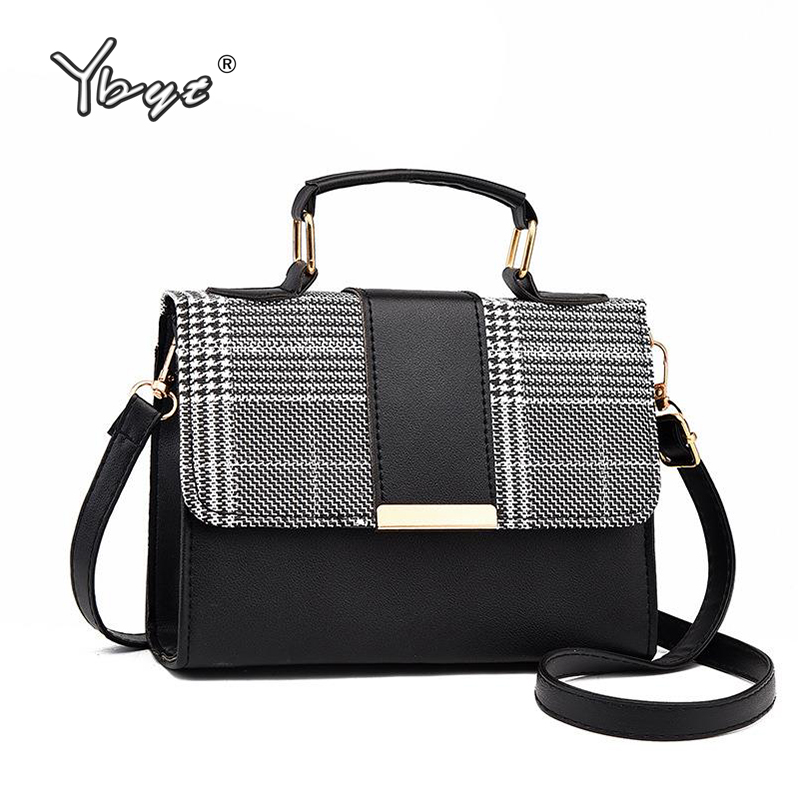YBYT Fashion Plaid Crossbody Bags For Women Flap PU Leather Small Shoulder Bag Hotsale Female Luxury Handbags Bolsas Feminina