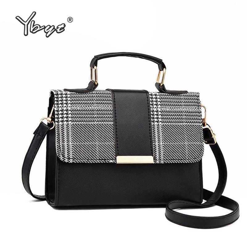 YBYT Fashion Plaid Crossbody Bags For Women Flap PU Leather Small Shoulder Bag Hotsale Female Luxury Handbags Bolsas Feminina