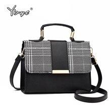 YBYT fashion plaid crossbody bags for women flap PU Leather small shoulder