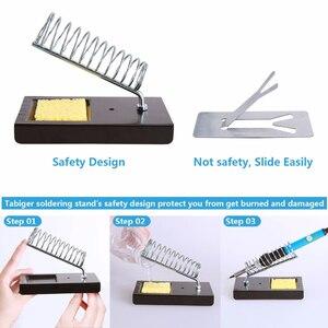 Image 5 - Цифровой паяльник Handskit 80 Вт, Электрический паяльник с переключателем On Offf, насос для отпайки ножей, инструменты для паяльника
