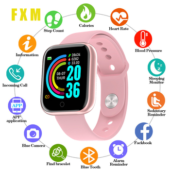 цена на Smart Watches For Women Y68 Fitness Bracelet activity tracker heart rate monitor blood pressure Bluetooth watch for ios Android