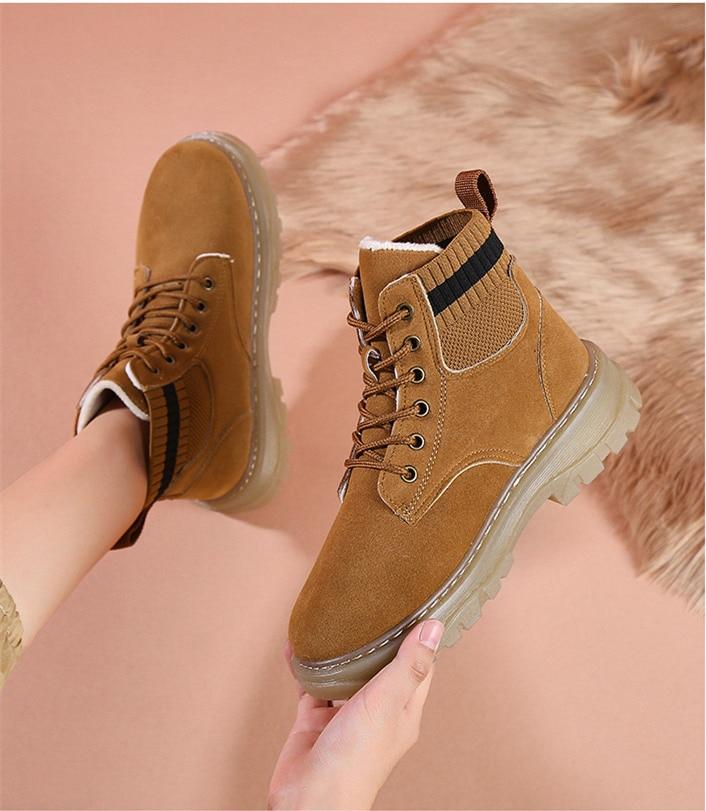 sapatos de plataforma de inverno moda feminina