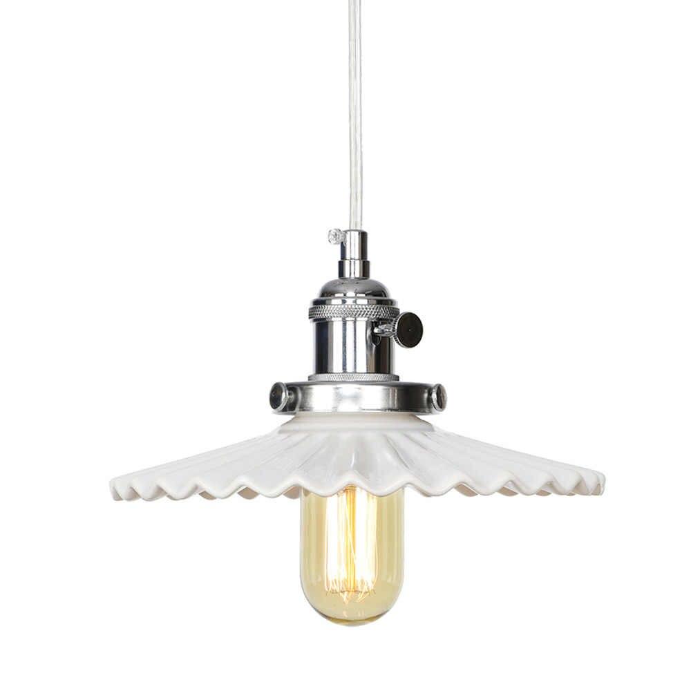 נורדי עיצוב קרמיקה מודרני תליון מנורת לופט דקור LED תליית אור ברזל להתאים מתג אוכל חדר בית תאורת Droplight