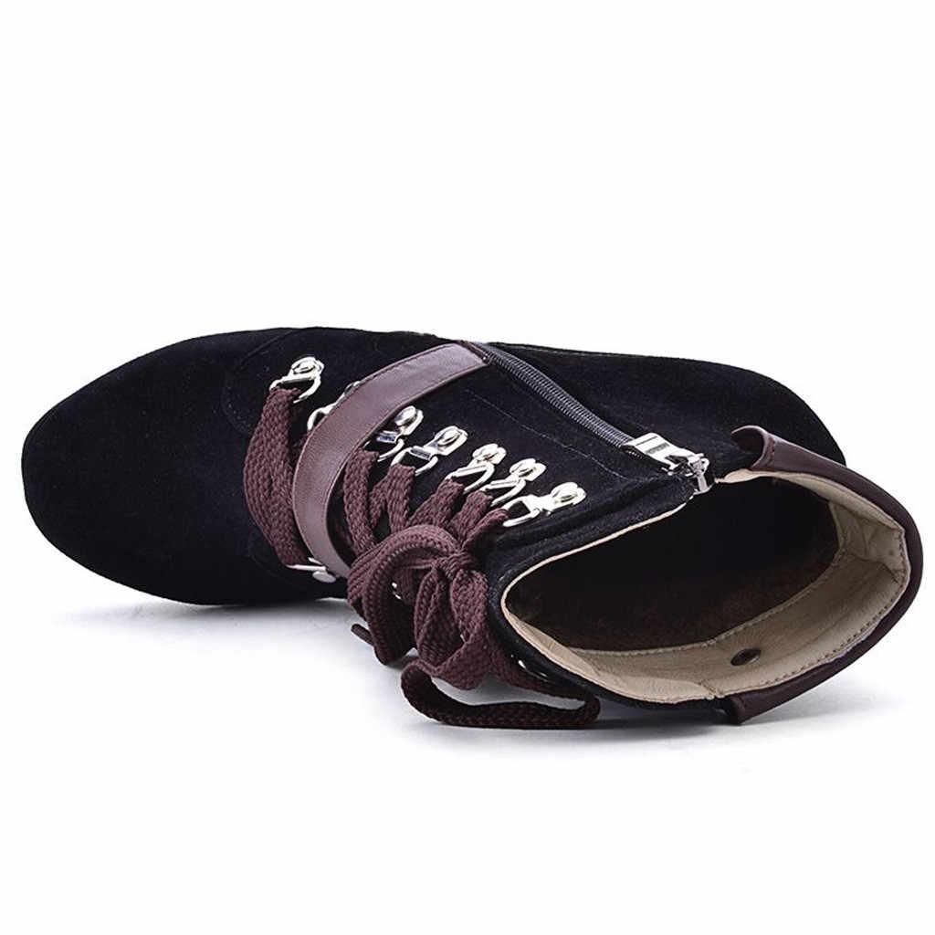 Femmes Sexy mode bottes minces chaussures à talons carrés imperméable plate-forme à talons hauts chaussons automne hiver femme bottines #823