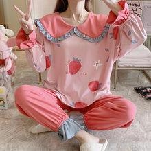 Женские пижамы свободные версия col Клодин из хлопка на весну