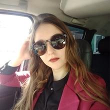 Retro Round glasses 2019 sunglasses women Brand Designer Transparent frame Yello