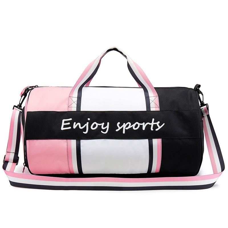 Gym-Bag Handbag Yoga-Mat Shoulder Crossbody Fitness Waterproof Women For Tas-Dry