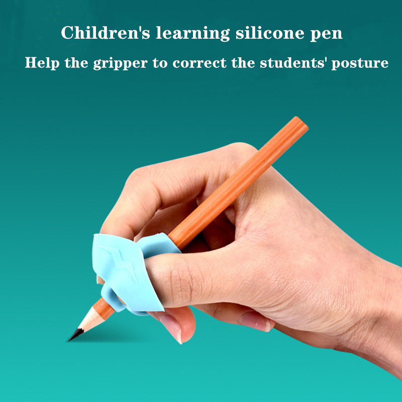 A Lovely Silicone Pencil Holder For Beginners To Write With To Help The Baby To Correct The Pencil Holder With Two Thumbs