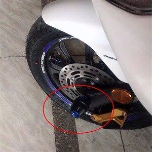 Image 4 - Motosiklet aksesuar ön çatal tekerlek düşme koruma çerçeve kaymak Anti çarpışma koruyucu HONDA PCX 125 150 FORZA 125 300 250